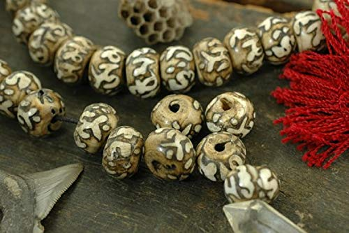 - Loose Beads: Hand-Carved Nepali Shell Beads 11x16mm, 4 Beads, Boho Yoga Fashion, Jewelry Making Supplies #WSW_9395