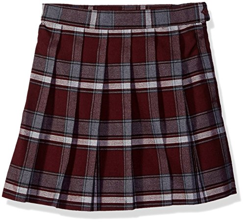 French Toast Big Girls' Plaid Pleated Skirt, Burgundy, 12 by French Toast