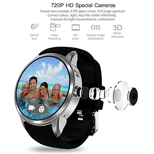 Smartwatch Wrist Watch with Heart Rate Sensor (Android Wear, GPS, Wear OS by Google) Sports Watch Compatible with Android and iOS Multilayer Display