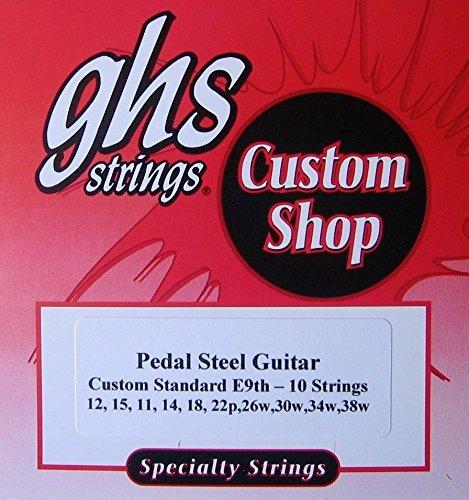 GHS Pedal Steel Guitar E9th - 10 (standard) Strings, E9 Tuning - 1 Set