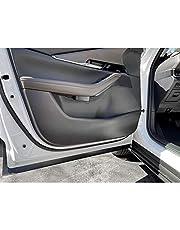 YEE PIN Door Anti-Kick Pad Mats Side Edge Protection Mats Cover Sticker for Mazda CX-30 2019 2020 (Carbon Fiber)
