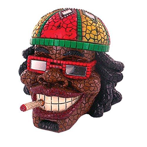 Rockin Gear Ashtray Rasta Man - Intricate Jamaican Man Mosaic Tile Figurine Polyresin Ashtray Weed Hemp Marijuana Pot Cannabis Party Accessory - ASH-RM1 ()