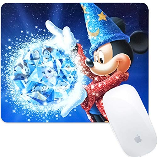 DISNEY COLLECTION Round Mouse Pad Snow White Light Slim Skid Proof High Mouse Tracking for Office Gaming and Home