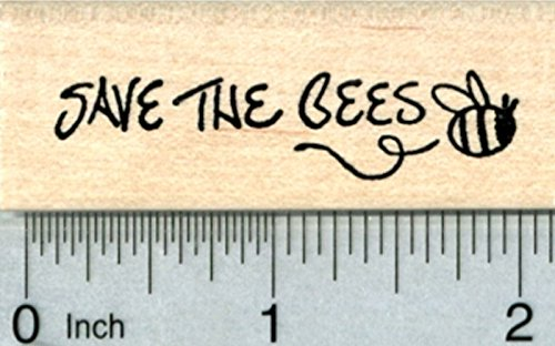 Save the Bees Rubber Stamp