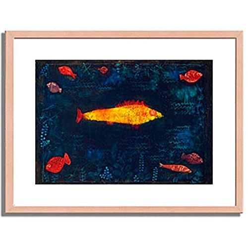 パウルクレー 「金色の魚 The Golden Fish. 1925 」 インテリア アート 絵画 壁掛け アートポスターフレーム:木製(白木) サイズ:S(221mm X 272mm) B00MSW9VFI 1.S (221mm X 272mm)|2.フレーム:木製(白木) 2.フレーム:木製(白木) 1.S (221mm X 272mm)