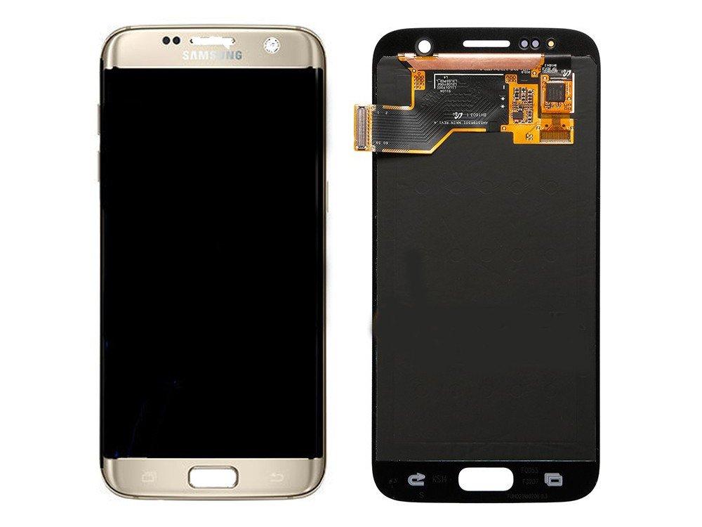 Third Party - Ecran LCD + Tactile Assemblé Samsung Galaxy S7 SM-G930 Gold - 3700936104175