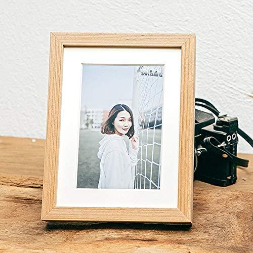 16x20 Multi Autographed Photo - AB Cornici yui04 Photo Frames,Photo Frames Pewter Multi Photo Frames for Wall Photo Frames Oak Photo Frames Grey Gift Decoration,Photo Clip Frame,Teak Color6 Inch Table [10X15]