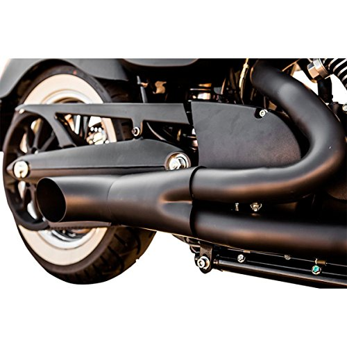 Trask Performance Hot Rod 2 into 1 Black Exhaust System for 2005-2015 Victory Cruisers (Full System Coated Black Exhaust)
