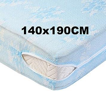 douceur de nuits dr1179 - 2 Fundas de colchón (140 x 190 cm), Color Azul: Amazon.es: Hogar