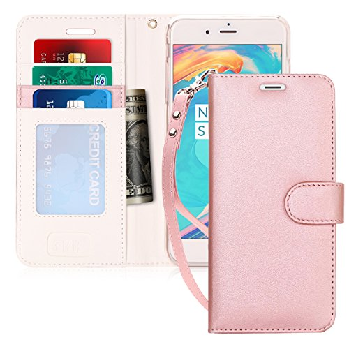 FYY Luxury PU Leather Wallet Case for iPhone 6S Plus/iPhone 6 Plus, [Kickstand Feature] Flip Folio Case Cover with [Card Slots] and [Note Pockets] for Apple iPhone 6 Plus/6S Plus (5.5