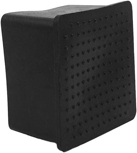 Flyshop Lot de 4 capuchons de chaise en PVC avec pieds carr/és 80 x 80 mm Noir