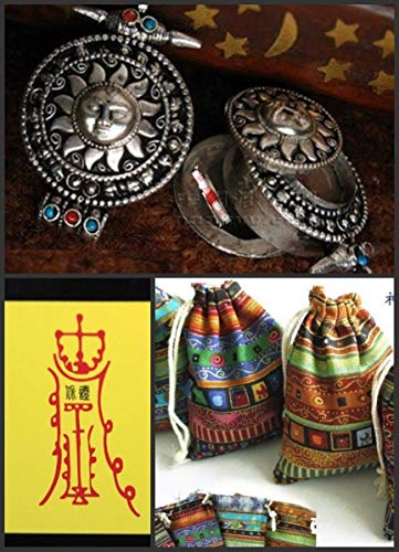 Protect! Blessed Tibetan 2-Layer Apollo Ghau Prayer Box Pendant W Certification #ID-76 ()