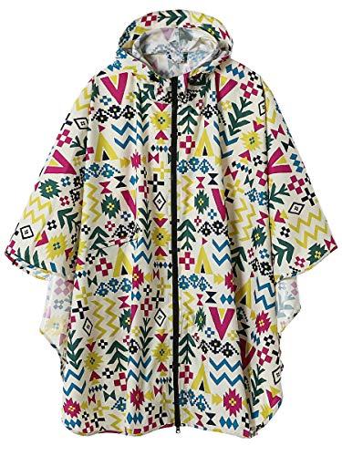 LINENLUX Waterproof Rain Poncho Jacket Coat Adults Hooded Two Zippers(Colorful) by LINENLUX