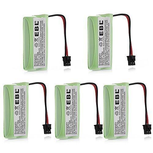 EBL 5 Packs 2.4V 800mAh Replacement Rechargeable Cordless Phone Battery for Uniden BT-1008 BT1008 BT-1016 BT1008S DECT20602 DECT 2080 DECT 2060-2 DWX-207 DECT20854WX DECT21802 Dantona BATT-1008 BATT1008 Empire CPH-515B ()