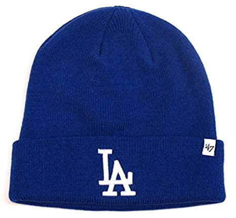 fa192eb8 Amazon.com : Los Angeles Dodgers 47 Brand Knit Beanie Fold Blue ...