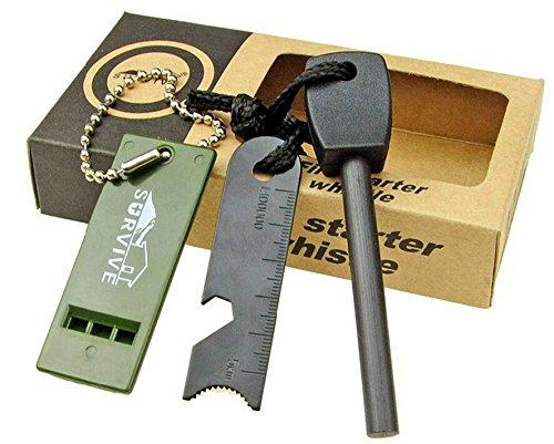 Topways® Fire Starter Un kit más ligero del arrancador de fuego del pedernal del magnesio