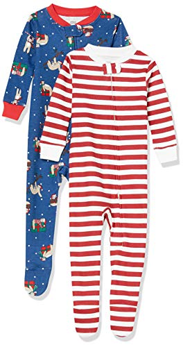 Amazon Essentials Baby/Toddler Snug-Fit Cotton Footed Sleeper Pajamas