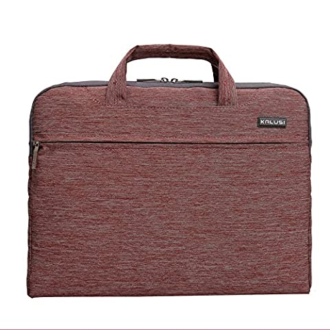 MKT Nylon Deluxe Universal Laptop Notebook computer Macbook Case Briefcase Handle Bag Sleeve (11 IN, Light - Apple Coral Handle