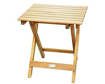 SAM® Petite Table en Bois d\'Acacia, Label FSC® 100%, desserte avec Surface  poncée Plusieurs Fois, Bois Dur Massif, Pieds pliants, idéal pour Balcon,  ...