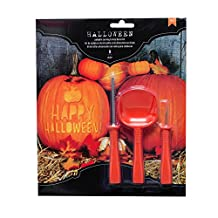 American Crafts 376607 Phrases Halloween Pumpkin Carving Kit Phrases 9Piece