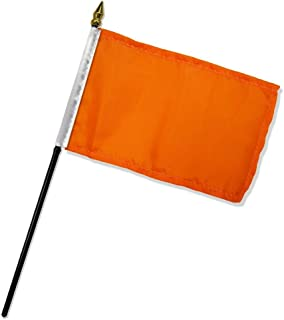RFCO Solid Orange 4'x6' Desk Stick Flag (No Base) (12)