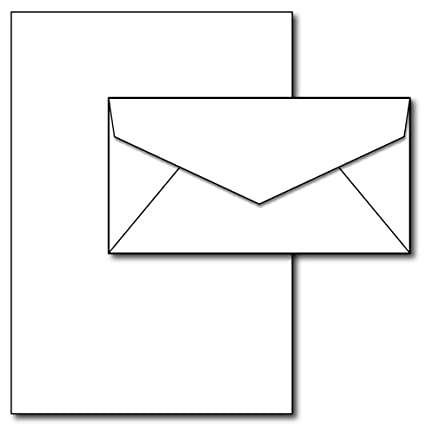 e6a89b19e535 Amazon.com   Blank Letterhead Paper   Envelopes - 40 Sets - Unique ...