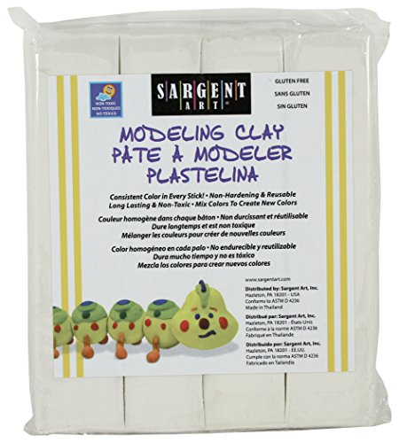 Modeling Clay Sticks - Sargent Art 22-4096 1-Pound Solid Color Modeling Clay, White