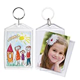 2x3 Acrylic Snap-in Photo Keychains - 36 Pack