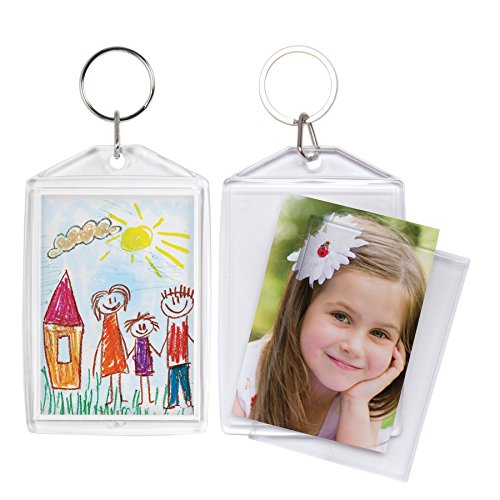 2x3 Acrylic Snap-in Photo Keychains - 36 - Acrylic Photo In Snap