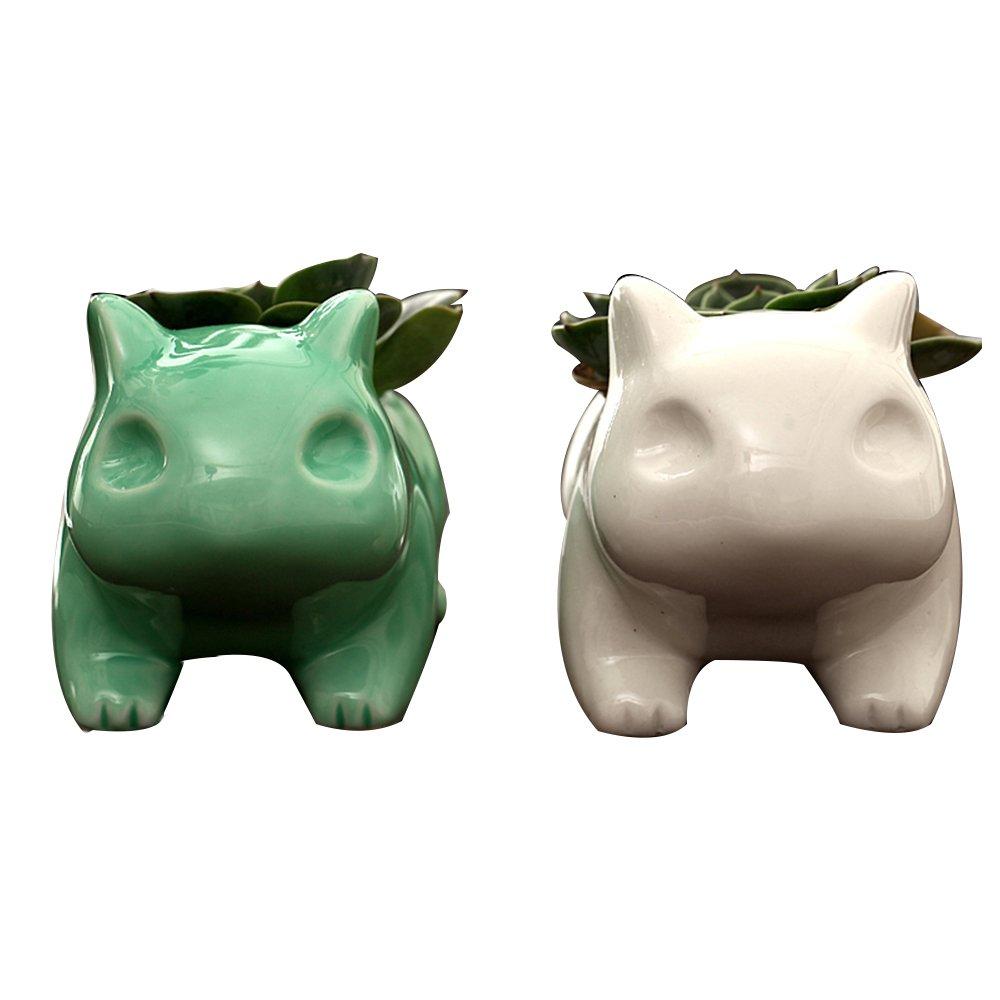 Amazon.com: Bulbasaur cerámica de porcelana arte plantas ...