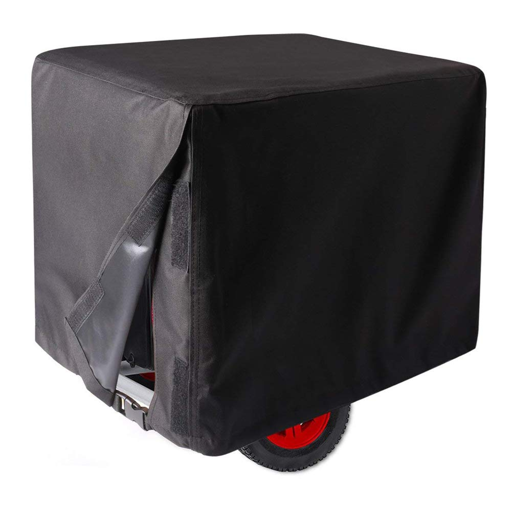 Ihomepark Outdoor Generator Covers, 32'' x 24'' x 24'' Waterproof Universal Storage Cover for Generator - Black