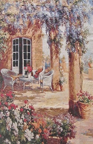DaDa Bedding Lavender Gardens Tapestry - French Countryside Floral Wall Hanging