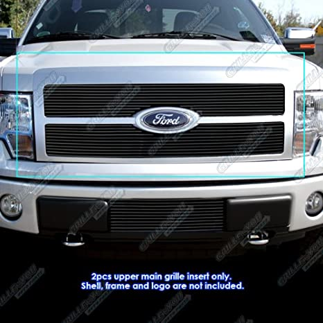 2012 F150 Grill >> Aps Compatible With 2009 2011 Ford F 150 Platinum Black Billet Grille Grill Insert F86884h