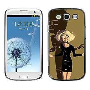 Caucho caso de Shell duro de la cubierta de accesorios de protección BY RAYDREAMMM - Samsung Galaxy S3 I9300 - Scary Cartoon Character