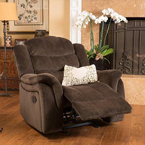 Great Deal Furniture Blake Brown Fabric Glider Recliner Club Chair