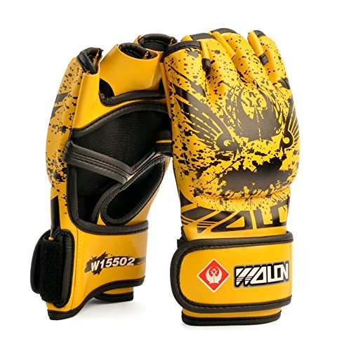 2016 New Arrival MMA PU Boxing Gloves Training Gloves Half Finger Muay Thai Kick Fighting Gloves For