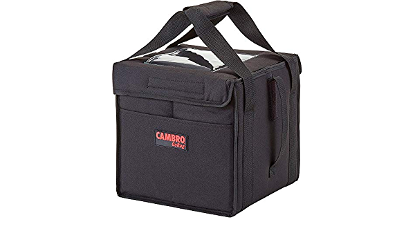 Cambro GBD211417110 Insulated Black GoBag 21 x 14 x 17 Delivery Bag