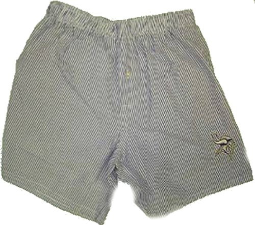 SMALL (28/30) Men's Cotton Striped Minnesota Vikings Boxer Shorts (Minnesota Vikings Shorts)
