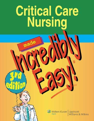 Critical Care Nursing Made Incredibly Easy! (Incredibly Easy! Series®) Pdf