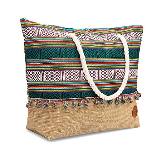 Beach Bag - Large Beach Bag to Tote Your Beach Wears In One Carry-All Bag - The Beach Tote Is Designed For Women and Can Fit Everything From Beach Towels to Flip Flops to Small Valuables
