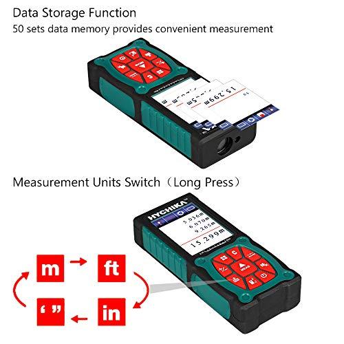 Laser Entfernungsmesser 60M, HYCHIKA Entfernungsmesser