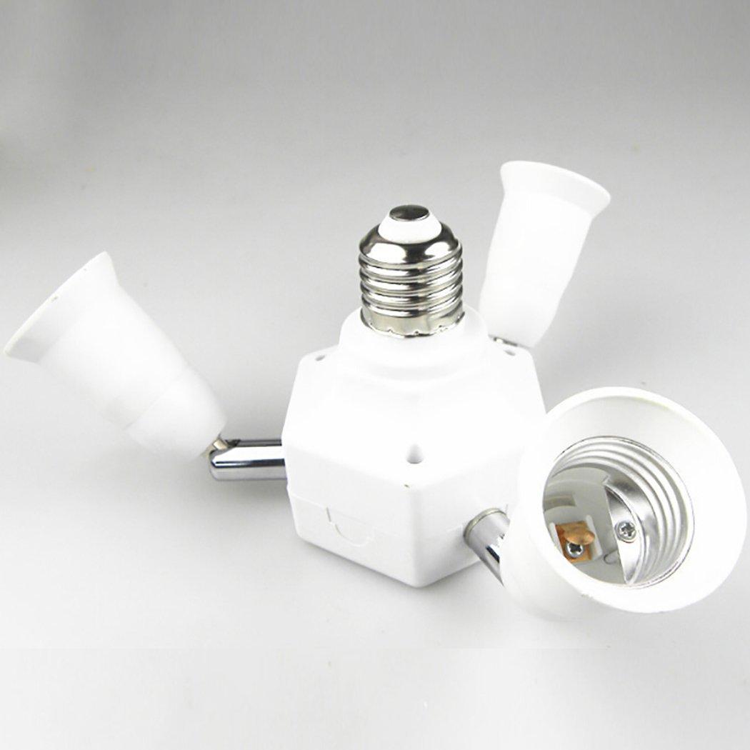 Outgeek Light Socket Splitter 3 in 1 Light Socket Converter 360 Degree Adjustable E27 Bulb Base Adapter by Outgeek (Image #2)