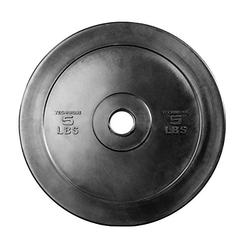 Rep Technique Plates for Strength and Conditioning Workouts and Weightlifting 5 lb Pair by Rep Fitness (Image #1)