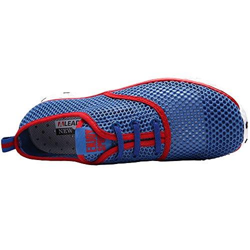 ALEADER Mens Quick Drying Aqua Water Shoes Red 12 D(M) US