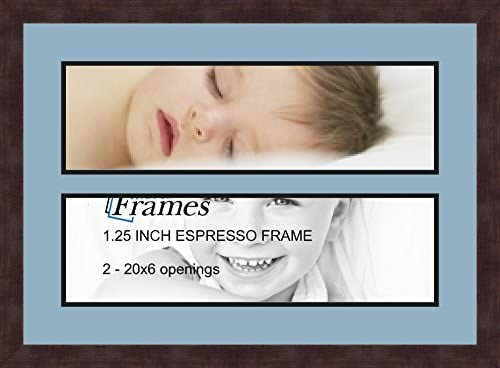 Art to Frames Double-Multimat-677-762//89-FRBW26061 Collage Frame Photo Mat Double Mat with 3-8x12 Openings and Espresso Frame
