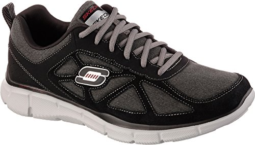 Skechers EQUALIZER FRONT CENTER 51346 BKCC Herrensneaker Schwarz/Grau