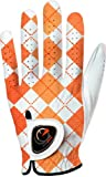 easyglove BRITISH_CHECKERD-ORANGE-W Women's Golf Glove (White)