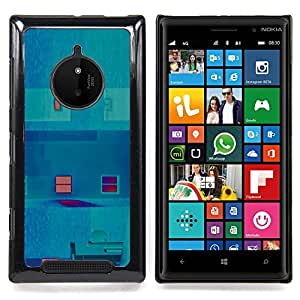 Inverted Teal Abstract Window Art Caja protectora de pl??stico duro Dise?¡Àado King Case For Nokia Lumia 830