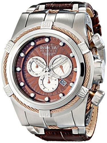 Invicta Men's 14612 Bolt Analog Display Swiss Quartz Brown Watch