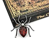 YOQUCOL Red Cubic Zirconia Crystal Spider Shape